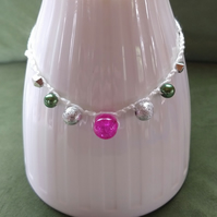 Crochet Beaded Anklet (free shipping)