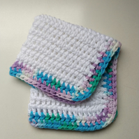 Crochet Cotton Dishcloths (free shipping)