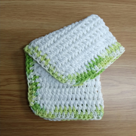 Crochet Cotton Dishcloth (free shipping)