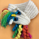 Unicorn scarf knitting pattern