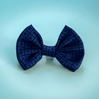 Upcycled Cat (pet) slip on bow tie ca. 4 inch wide