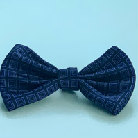 Upcycled Cat (pet) slip on bow tie ca. 5 inch wide