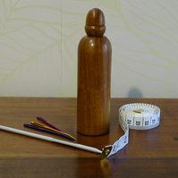 Wooden darning needle case