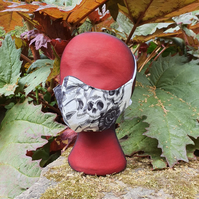 Skull and Flowers 3-Ply  Face Mask