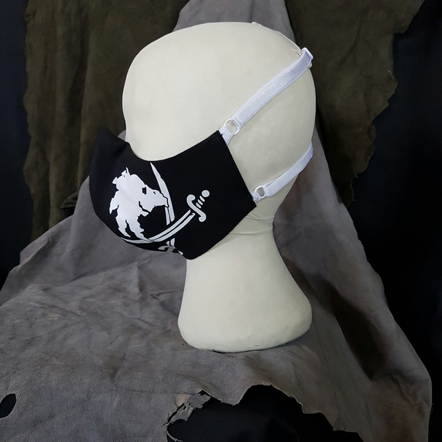 FACE MASK - Swordpunk left-hand Pirate Print
