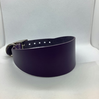 lilac leather collar for greyhound or whippet