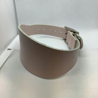 Pale Pink leather Greyhound Collar