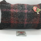 Grey and Red Check Harris Tweed coin purse ,Zip pouch