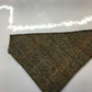 Slide on Dog Bandana Fawn and Brown Herringbone Harris Tweed With cotton reverse