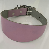 Dusty Pink Leather Greyhound Collar