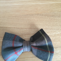 Grey Brown and red Tartan  dog or cat bowtie