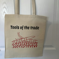 Tools of the Trade cotton tote bag ,very strong but light ,Bag for Life,