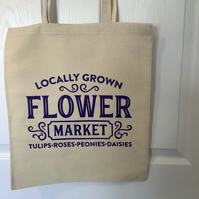 Flower Market  cotton tote bag ,very strong but light