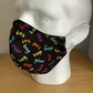 Face mask,Black cotton print, Reusable  face mask,Washable face covering,
