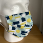 Face mask, Blue &Yellow pattern Cotton ,Reusable face mask ,face cover,Free P&P