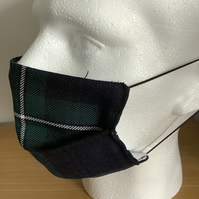 Tartan Face mask, Reusable fask mask, Washable face covering, Free P&P