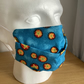 Blue with yellow stars, Cotton Face mask, Reusable face mask, Free P&P