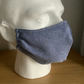 Lovely Blue  Chambray  Cotton Face mask, Reusable face mask, face covering.