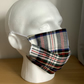 White tartan  Face mask, Reusable face mask, Free P&P