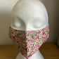 Lovely Pink Floral, Cotton Face mask, Reusable face mask, face covering.