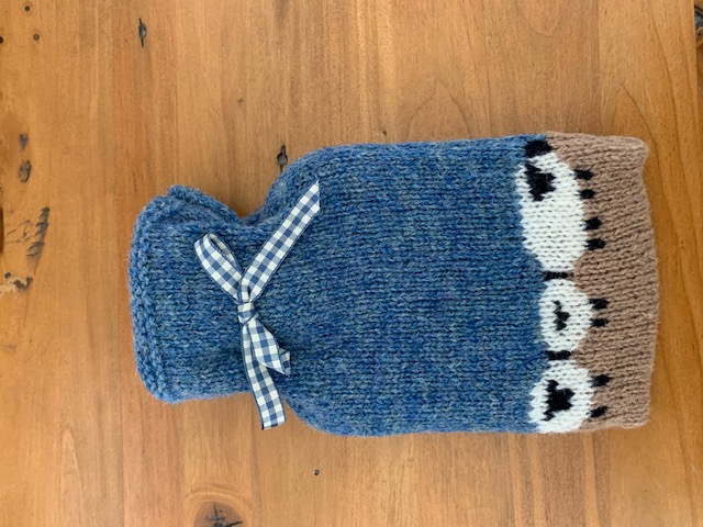 Knitted Mini Hot Water Bottle Cover