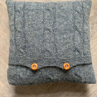 Knitted Cable Cushion Cover