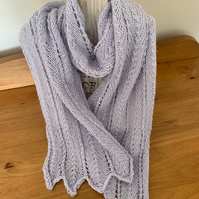 Knitted Lacy Alpaca Scarf