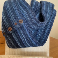 Knitted Striped Cowl