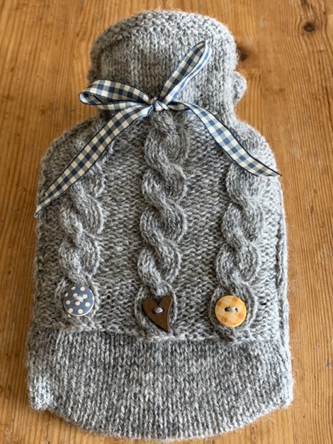 Mini Knitted Hot Water Bottle Cover