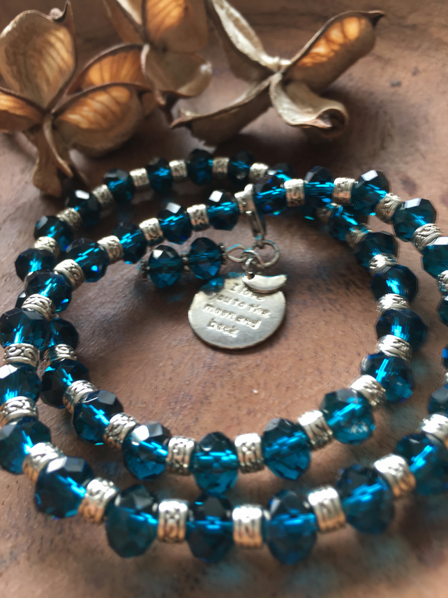 Beautiful Blue Beaded Bracelets