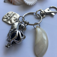 Sea inspired charms keyring,bag dangle.