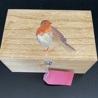 Robin Hand painted Box