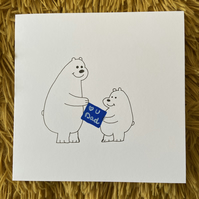 Bear Father's Day Card