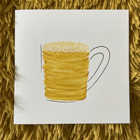 Beer Mug Fathers Day Card