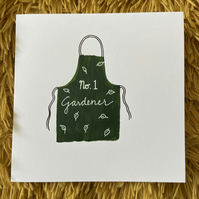 No.1 Gardener Fathers Day Card