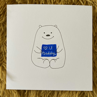 Polar Bear Father's Day Card
