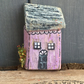 rustic driftwood upcycled wooden sweet tiny cottage house (no011)