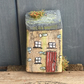 rustic driftwood upcycled wooden sweet tiny cottage house (no012)