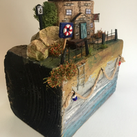"""rustic driftwood upcycled wooden seaside public house """"the Anchor"""""""