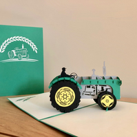Tractor pop up card- Birthday pop up card- Father's day cards