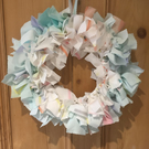 Pastel Rag Wreath