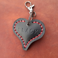 Black heart keyring