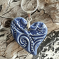 Ceramic Heart Necklace - Handmade in Cornwall - Heart Gift