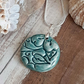 Green Ceramic Necklace - Handmade in Cornwall