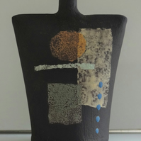 Callum.  Black stoneware ceramic form