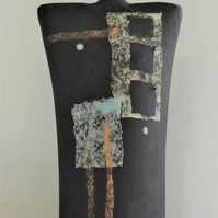 Cassie.  Black stoneware figurative ceramic form