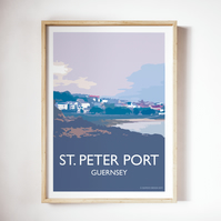 St. Peter Port Guernsey Channel Islands Giclee Travel Poster