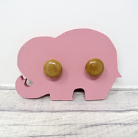 Pink elephant coat hook
