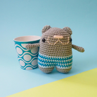 Handmade Hamster toy, crochet animal, amigurumi, mouse