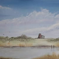 Original Oil Painting. St Benet's Abbey, Norfolk